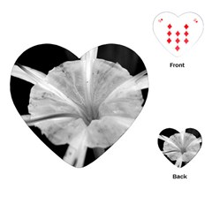 Exotic Black And White Flower 2 Playing Cards (heart)  by timelessartoncanvas