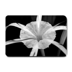 Exotic Black And White Flower 2 Small Doormat  by timelessartoncanvas