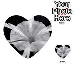 Exotic Black And White Flower 2 Multi Purpose Cards (heart)