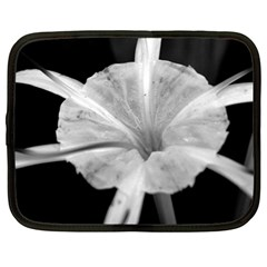 Exotic Black And White Flower 2 Netbook Case (large)	 by timelessartoncanvas
