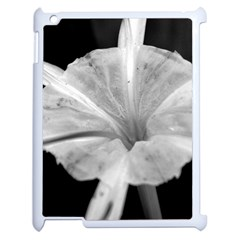 Exotic Black And White Flower 2 Apple Ipad 2 Case (white) by timelessartoncanvas