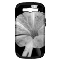 Exotic Black and White Flower 2 Samsung Galaxy S III Hardshell Case (PC+Silicone) by timelessartoncanvas