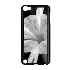 Exotic Black And White Flower 2 Apple Ipod Touch 5 Case (black) by timelessartoncanvas
