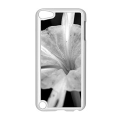 Exotic Black And White Flower 2 Apple Ipod Touch 5 Case (white) by timelessartoncanvas