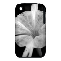 Exotic Black And White Flower 2 Apple Iphone 3g/3gs Hardshell Case (pc+silicone)