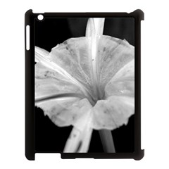 Exotic Black And White Flower 2 Apple Ipad 3/4 Case (black) by timelessartoncanvas