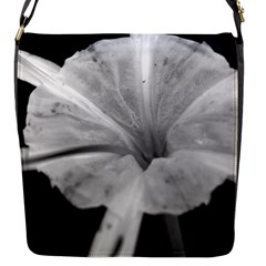 Exotic Black And White Flower 2 Flap Messenger Bag (s) by timelessartoncanvas