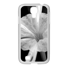 Exotic Black And White Flower 2 Samsung Galaxy S4 I9500/ I9505 Case (white) by timelessartoncanvas