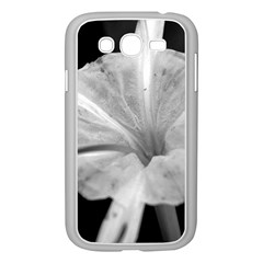 Exotic Black And White Flower 2 Samsung Galaxy Grand Duos I9082 Case (white) by timelessartoncanvas