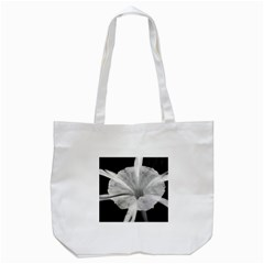 Exotic Black And White Flower 2 Tote Bag (white)  by timelessartoncanvas