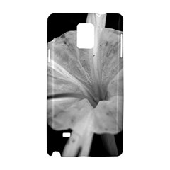 Exotic Black And White Flower 2 Samsung Galaxy Note 4 Hardshell Case by timelessartoncanvas