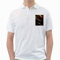 Glowing, Colorful  Abstract Lines Golf Shirts by FantasyWorld7