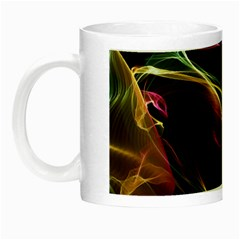 Glowing, Colorful  Abstract Lines Night Luminous Mugs by FantasyWorld7