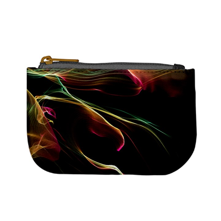 Glowing, Colorful  Abstract Lines Mini Coin Purses