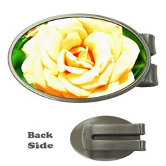 Orange Yellow Rose Money Clips (oval)  by timelessartoncanvas