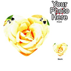 Orange Yellow Rose Playing Cards 54 (heart)