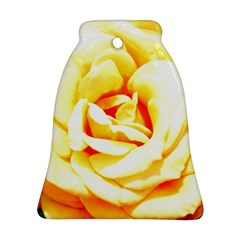 Orange Yellow Rose Ornament (bell)  by timelessartoncanvas