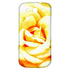 Orange Yellow Rose Samsung Galaxy S3 S Iii Classic Hardshell Back Case by timelessartoncanvas