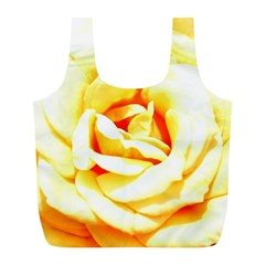 Orange Yellow Rose Full Print Recycle Bags (l)  by timelessartoncanvas
