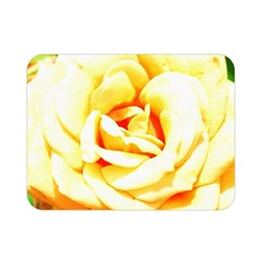 Orange Yellow Rose Double Sided Flano Blanket (mini)  by timelessartoncanvas