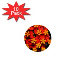 Orange And Red Weed 1  Mini Magnet (10 Pack)  by timelessartoncanvas