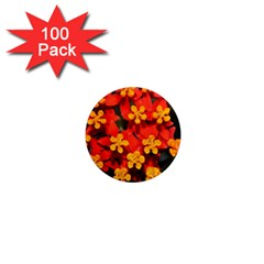 Orange And Red Weed 1  Mini Magnets (100 Pack)  by timelessartoncanvas