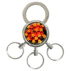 Orange And Red Weed 3 Ring Key Chains by timelessartoncanvas