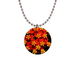 Orange And Red Weed Button Necklaces by timelessartoncanvas