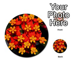Orange And Red Weed Multi Purpose Cards (round)