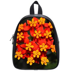 Orange And Red Weed School Bags (small)  by timelessartoncanvas