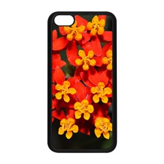 Orange And Red Weed Apple Iphone 5c Seamless Case (black) by timelessartoncanvas