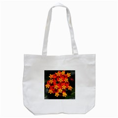 Orange And Red Weed Tote Bag (white)  by timelessartoncanvas