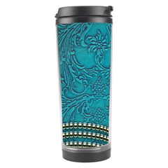 Wonderful Decorative Design With Floral Elements Travel Tumblers