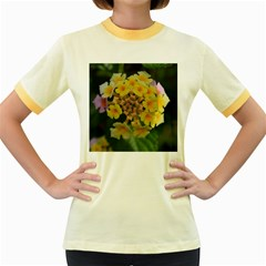 Colorful Flowers Women s Fitted Ringer T-Shirts by timelessartoncanvas