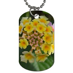 Colorful Flowers Dog Tag (two Sides) by timelessartoncanvas