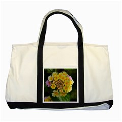 Colorful Flowers Two Tone Tote Bag  by timelessartoncanvas