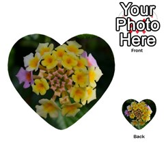 Colorful Flowers Multi Purpose Cards (heart)
