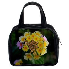 Colorful Flowers Classic Handbags (2 Sides) by timelessartoncanvas