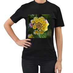 Colorful Flowers Women s T Shirt (black) by timelessartoncanvas