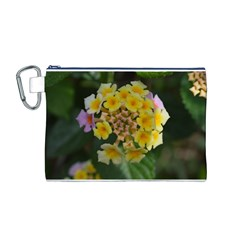 Colorful Flowers Canvas Cosmetic Bag (m) by timelessartoncanvas