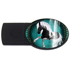 Beautiful Horse With Water Splash  Usb Flash Drive Oval (2 Gb)  by FantasyWorld7