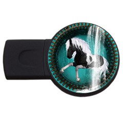 Beautiful Horse With Water Splash  Usb Flash Drive Round (4 Gb)  by FantasyWorld7
