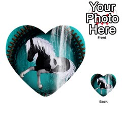 Beautiful Horse With Water Splash  Multi Purpose Cards (heart)