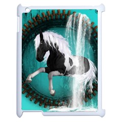 Beautiful Horse With Water Splash  Apple Ipad 2 Case (white) by FantasyWorld7