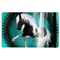 Beautiful Horse With Water Splash  Apple Ipad 2 Flip Case by FantasyWorld7