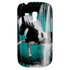 Beautiful Horse With Water Splash  Samsung Galaxy S3 MINI I8190 Hardshell Case by FantasyWorld7