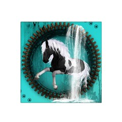 Beautiful Horse With Water Splash  Satin Bandana Scarf by FantasyWorld7