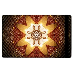 Elegant, Decorative Kaleidoskop In Gold And Red Apple iPad 3/4 Flip Case by FantasyWorld7
