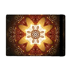 Elegant, Decorative Kaleidoskop In Gold And Red Apple iPad Mini Flip Case by FantasyWorld7
