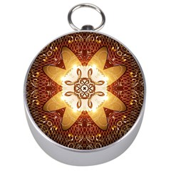 Elegant, Decorative Kaleidoskop In Gold And Red Silver Compasses by FantasyWorld7